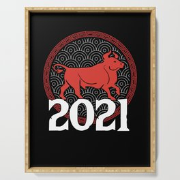 Chinese Zodiac 2021 Year Of The Ox New Year Gift Serving Tray
