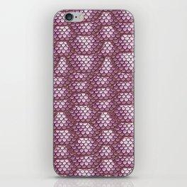 Dusty Rose Snake Skin Pattern iPhone Skin