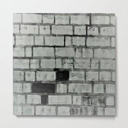 Graffiti Art on a Brick Wall. Original Painting by Jodi Tomer. Abstract Street Art Metal Print