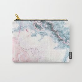 Blue and Pink Marble Carry-All Pouch