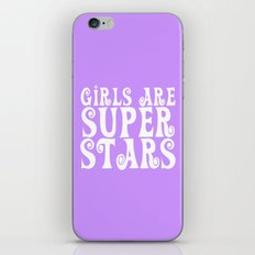Girls are Super Stars - Purple iPhone Skin