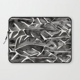 Split Leaf Philodendron - Black Laptop Sleeve