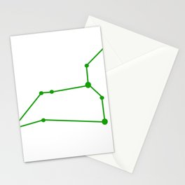 Leo (Green & White) Stationery Cards