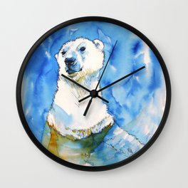 Polar Bear Inside Water Wall Clock
