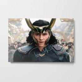 TOM HIDDLESTON Loki Avenger-s Endgame Thor Signed Autograph Reprint Autographed Photo Poster Metal Print