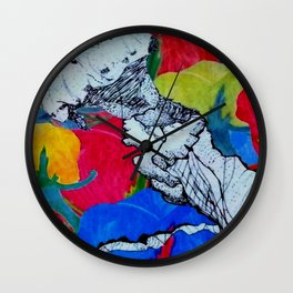 Swimming Through the Feilds Wall Clock