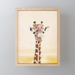 Giraffe Framed Mini Art Print