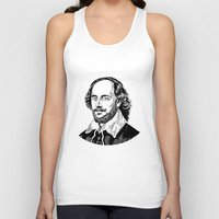 shakespeare Tank Tops featuring Shakespeare by OnaVonVerdoux