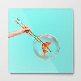 Sushi Bubble Metal Print