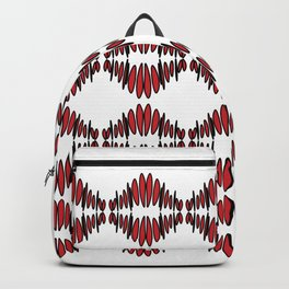 sonic red pattern no. 1 - red lips Backpack