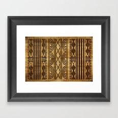 African Weave Framed Art Print