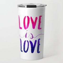 Love is Love - bi Travel Mug