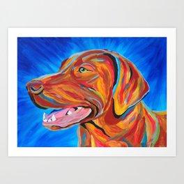 Colorful Lab Art Print
