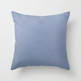 Serenity blue ombre gradient with texture Throw Pillow