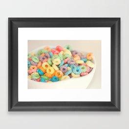 Fruit Loops Framed Art Print