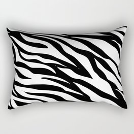 modern safari animal print black and white zebra stripes Rectangular Pillow