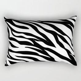 modern safari animal print black and white zebra stripes Rectangular Pillow