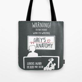 I'm Watching Grey's - Reverse Tote Bag