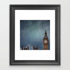 Stars Over Big Ben Framed Art Print