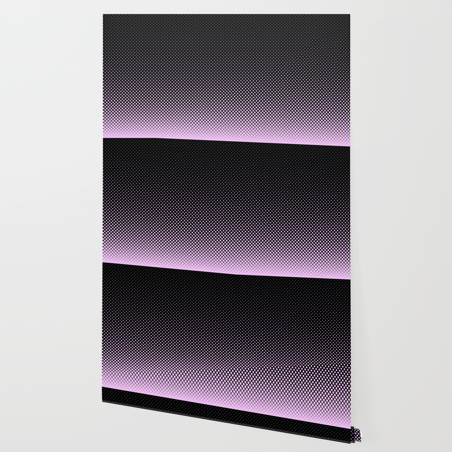 Pink And Black Diamond Pattern Wallpaper By Leahmcphail Society6