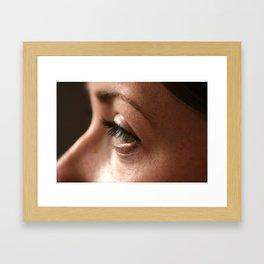 Womanly Gaze Framed Art Print