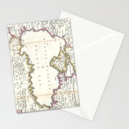 Vintage Map of The Black Sea (1747) Stationery Cards