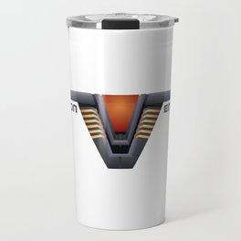 Chevron Encoded [SG-1] Travel Mug