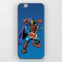 skeletor iPhone & iPod Skins featuring Laser Light Skeletor by CromMorc