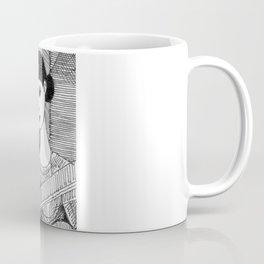 Girl on the top of her house. Coffee Mug