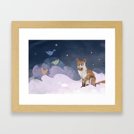 Fox Heaven Framed Art Print