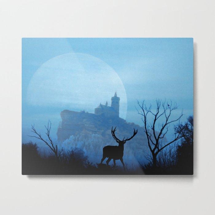 Stag moon Metal Print