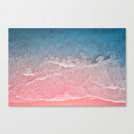 Bahamas pink blue Canvas Print