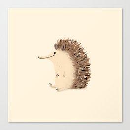 Happy Hedgehog Sketch Canvas Print