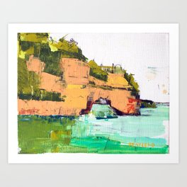 Pictured Rocks National Lakeshore Art Print