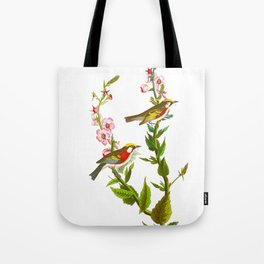 Chestnut Sided Warbler Bird Tote Bag