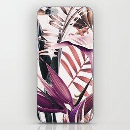 Magenta tropical iPhone Skin