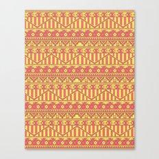 Aztec duo color pattern Canvas Print