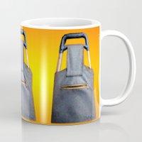 tiki Mugs featuring Tiki Luggage by Del Gaizo