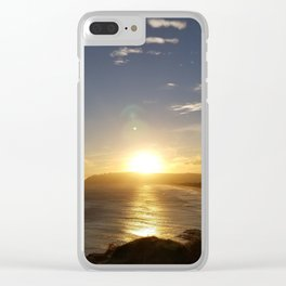 The Sunset From Sir Leonard Wright Lookout Point Clear iPhone Case