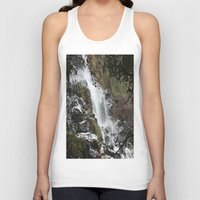 waterfall Tank Tops featuring Waterfall by Four Hands Art
