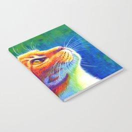Rainbow Cat Portrait Notebook