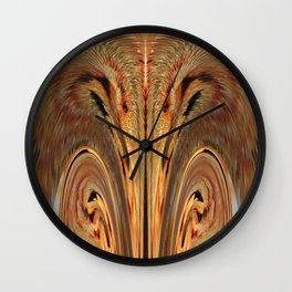 Strawberry Floral Flipped And Fluffed  v.1 Wall Clock