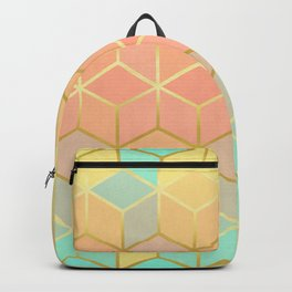 Square and gold lines IX Backpack