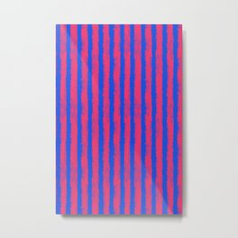 pink no blue bounding stripes 2 Metal Print