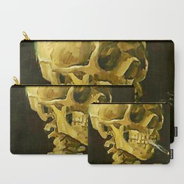 Skull of a Skeleton with Burning Cigarette - Vincent Van Gogh Carry-All Pouch