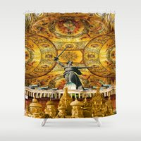 russia Shower Curtains featuring HISTORICAL RUSSIA by sametsevincer