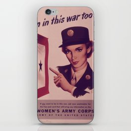 Vintage poster - Women's Army Corps iPhone Skin