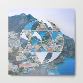 Abstract Geometric Village Metal Print