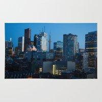 toronto Area & Throw Rugs featuring Toronto by Michael Linnik