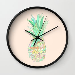 Pastel Pineapple Wall Clock